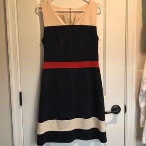 NWOT - 41 Hawthorn Navy/cream dress - Size Medium